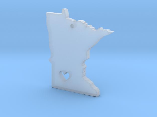 I Love Minnesota Pendant in Smooth Fine Detail Plastic