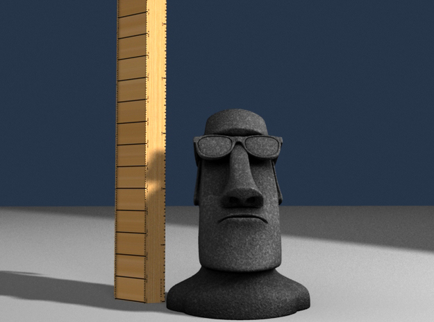 Moai Shades Head Statue 3d printed