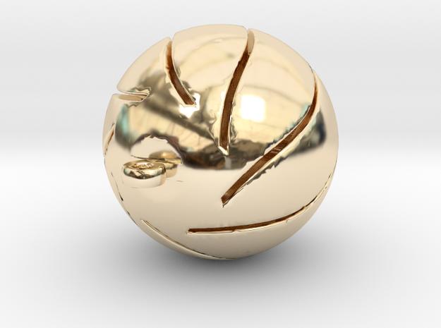 Chrismas Ball in 14K Yellow Gold