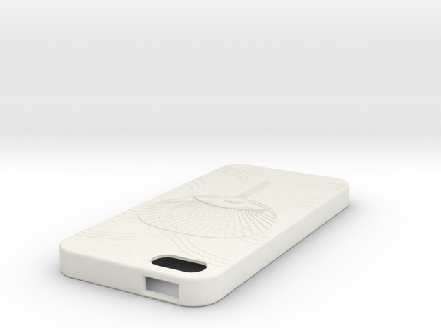 iPhone5case in White Natural Versatile Plastic