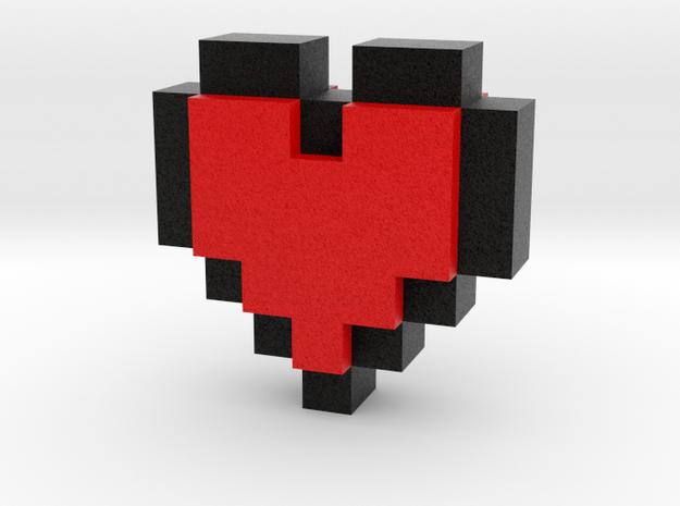 bitc Pixel Heart in Full Color Sandstone
