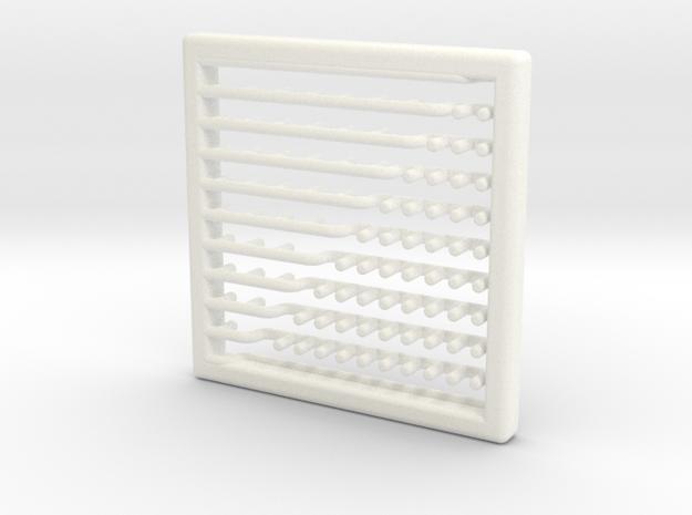Heat Proof Mat in White Processed Versatile Plastic