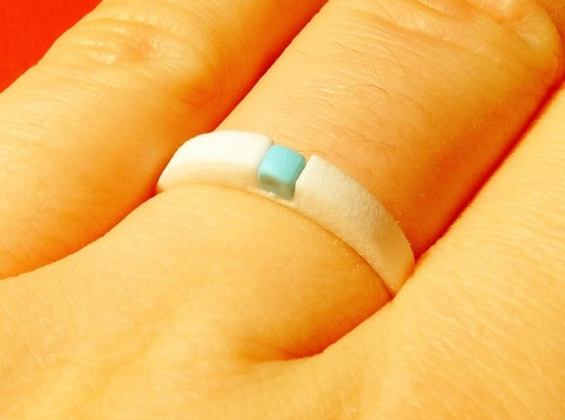 1-bit ring (US9/⌀18.9mm) in White Strong & Flexible Polished