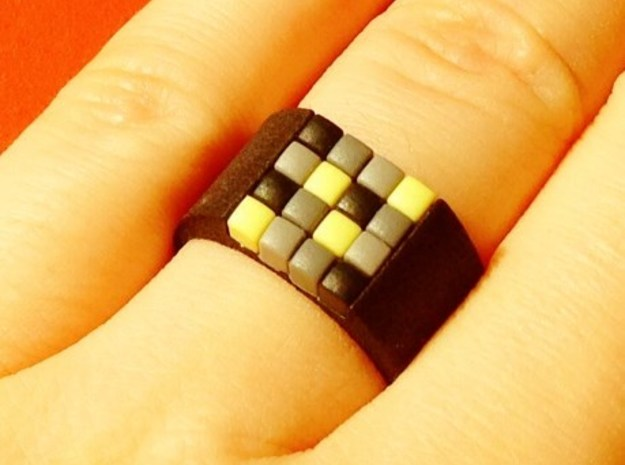 16-bit ring (US9/⌀18.9mm) in Black Strong & Flexible