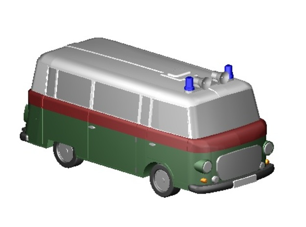 Barkas Bus Polizei (Z, 1:220) in Smooth Fine Detail Plastic