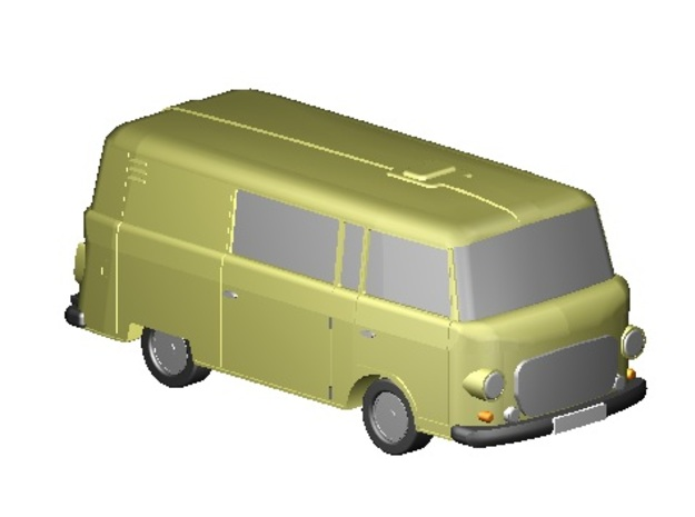 Barkas Halbbus (Z, 1:220) in Smooth Fine Detail Plastic