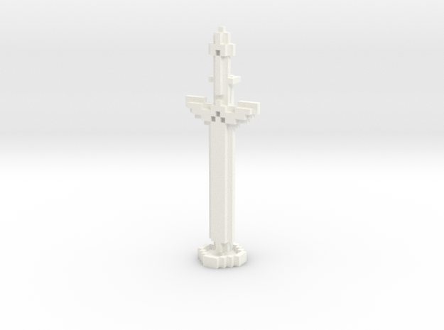 Pixel Art Sword And Stand