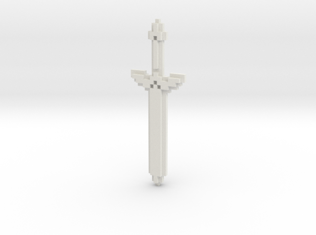 Pixel Art Sword  in White Strong & Flexible