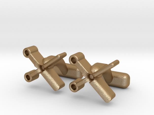 Scizzors Cl in Matte Gold Steel