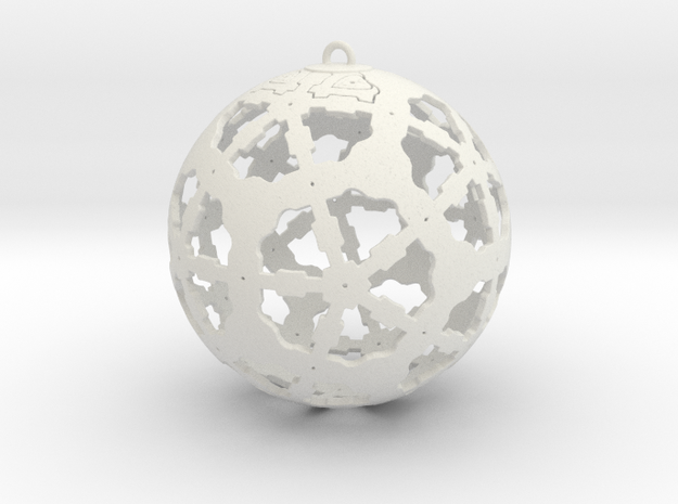 Steampunk Ornament in White Strong & Flexible