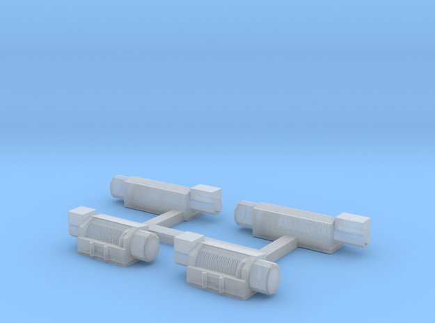 1/64th S scale winch set of 4, 2 small, 2 large