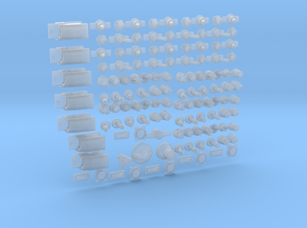 Knobs Various  4mm in Smooth Fine Detail Plastic