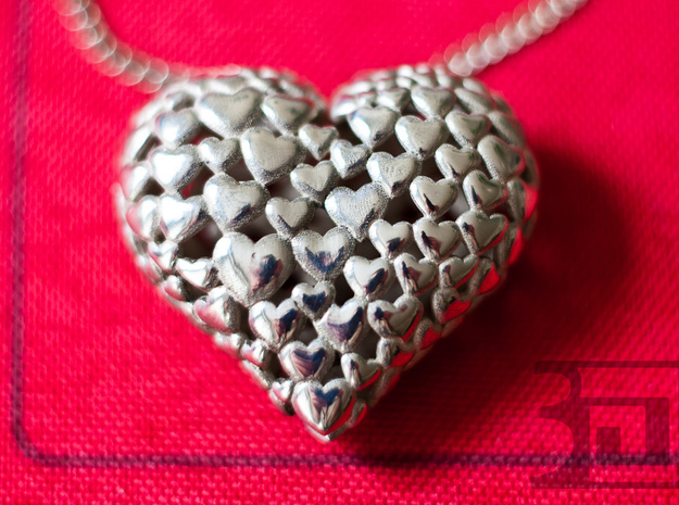 Heart Of Hearts in Polished Silver
