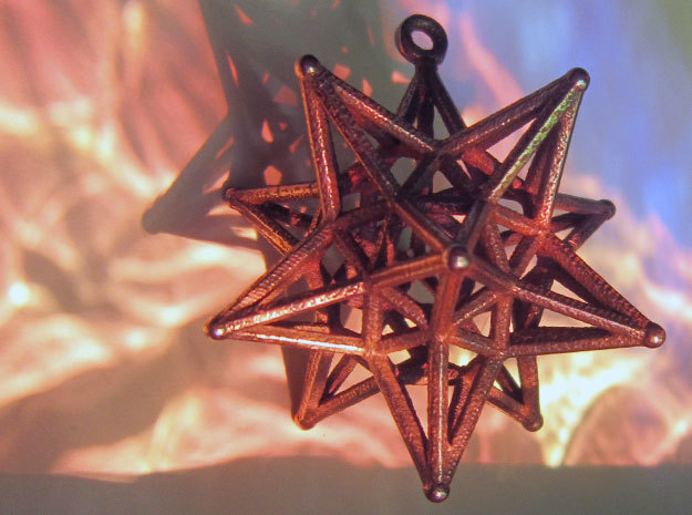 Dodeca Star Wire - 4cm 3d printed Look below for link to this model with Loopet