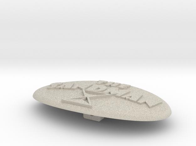 Sandman Belt Buckle 3d printed