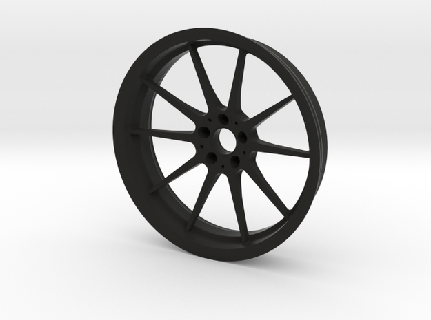 1:6 Performance Wheel Keychain in Black Natural Versatile Plastic