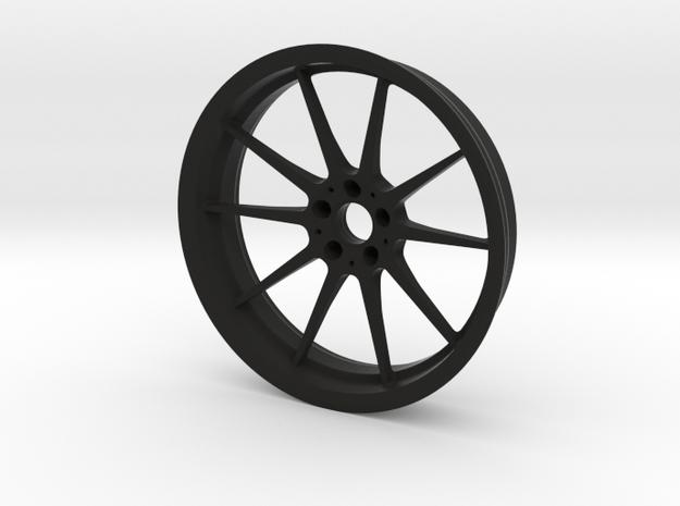 1:6 Performance Wheel Keychain in Black Natural Versatile Plastic