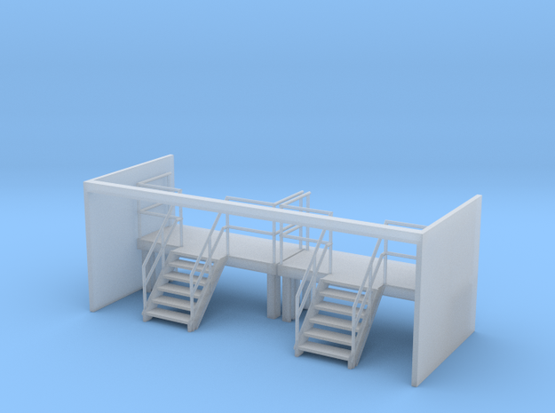 Factory Stairs in HO - Wide - 2 sets in Smooth Fine Detail Plastic