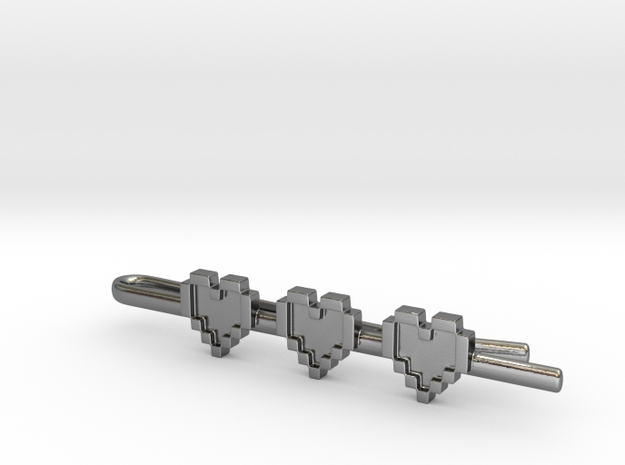 Legend of Zelda: Pixel Heart Tie Clip 3d printed