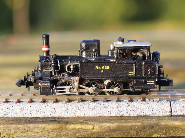 DSB F class N scale (with no tender extension)