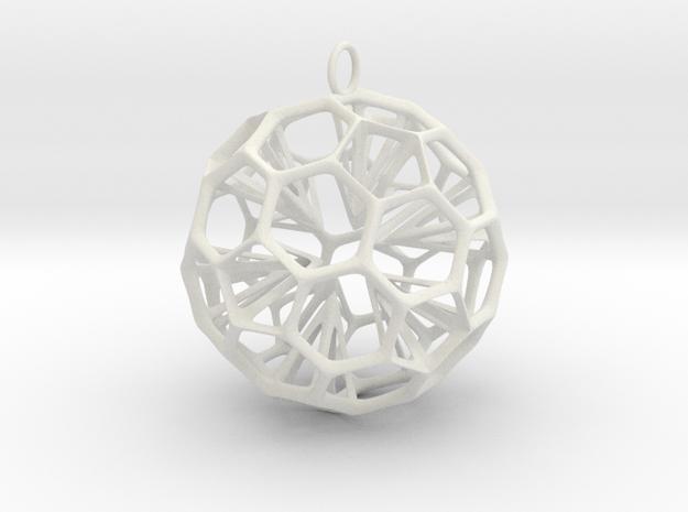 Inverse Star in White Natural Versatile Plastic