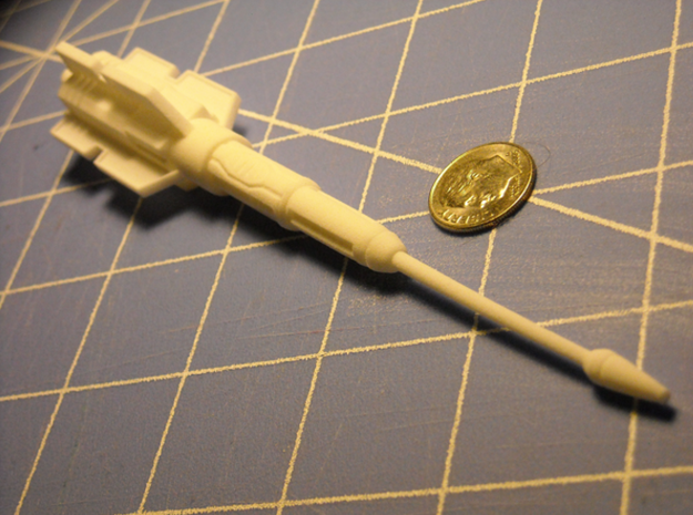 "GI Joe scale ""Null Ray"" cannon 3d printed"