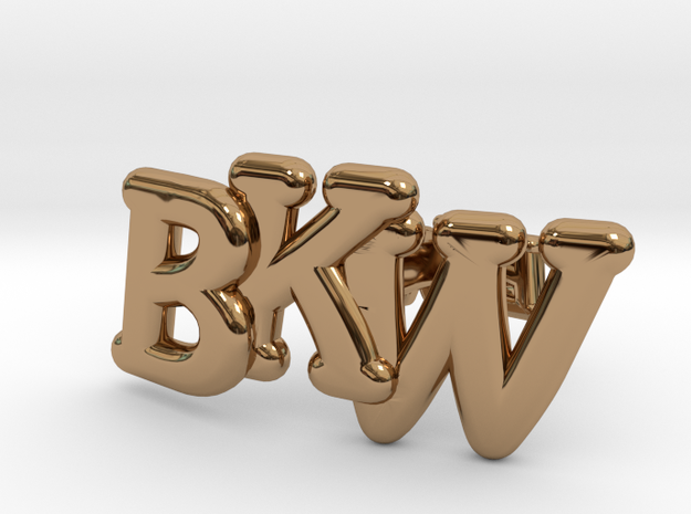 Monogram Cufflinks in Polished Brass