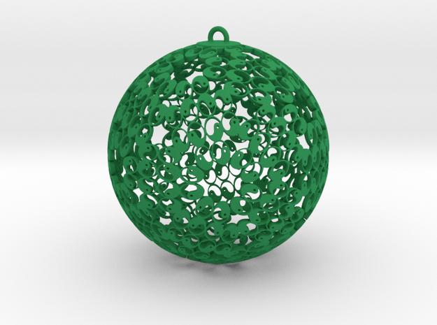 Self Reflection Ornament in Green Processed Versatile Plastic