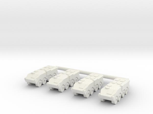 1/285 Type 96 APC (x4) in White Natural Versatile Plastic