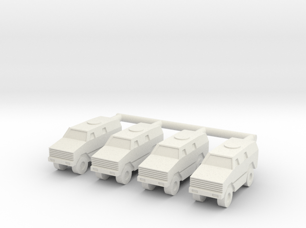 1/285 ATF Dingo Company (x4) in White Natural Versatile Plastic