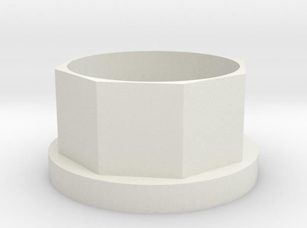 Küchenrollen-Verlängerung (6mm) in White Natural Versatile Plastic
