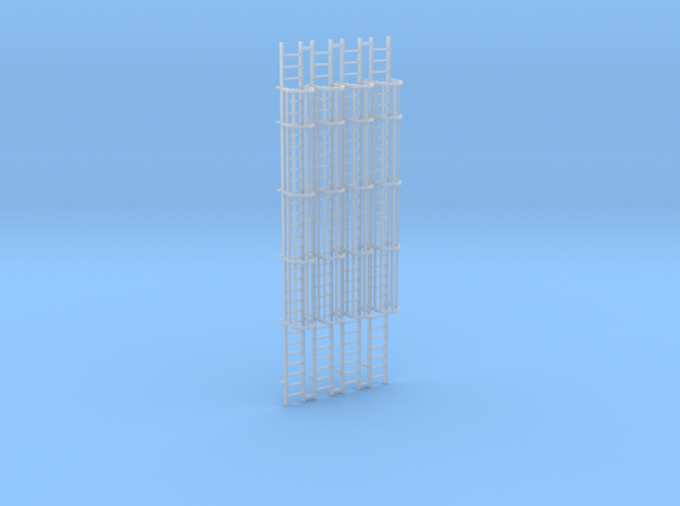 (4) 'N Scale' - 30' Caged Ladders