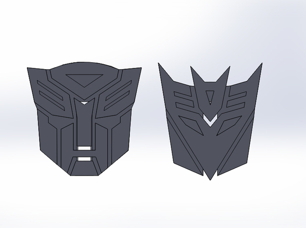 Transformers Toothpick Toppers 3d printed
