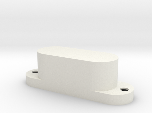 Bass V pickup cover - 2 pole in White Strong & Flexible