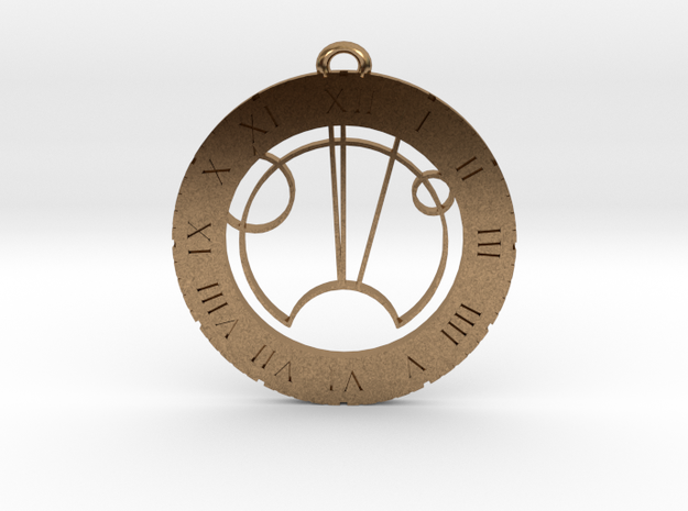 Seth - Pendant in Natural Brass