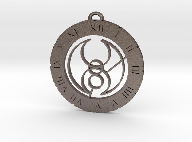 Hugo - Pendant in Polished Bronzed Silver Steel