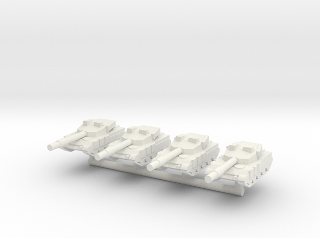 1/285 Al Zarrar Main Battle Tank (x4) in White Natural Versatile Plastic