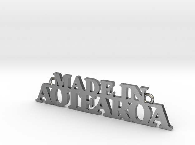 Made in AOTEAROA Pendant in Polished Silver