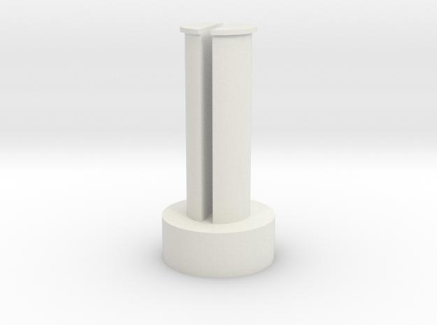 Boogie Pins in White Natural Versatile Plastic