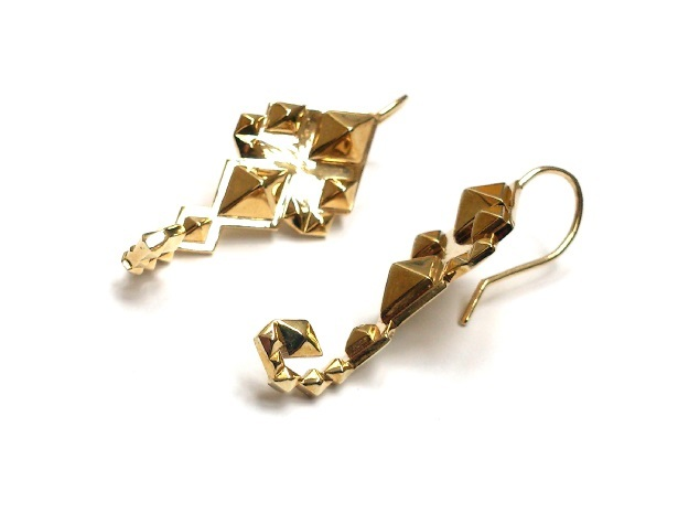 SacredScorpio earrings in Polished Brass