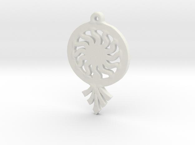 Sunrays Pendant in White Natural Versatile Plastic