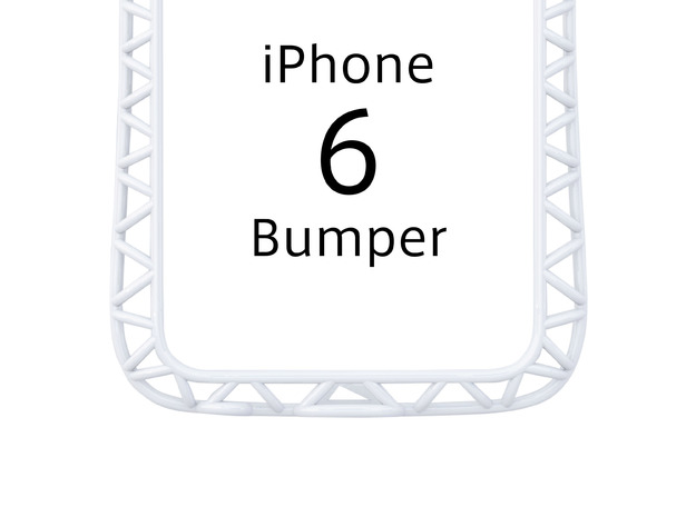 iPhone6/6s​​ Bumper 「truss」 in White Processed Versatile Plastic