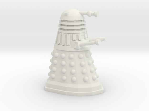 Dalek Miniature 30mm Scale in White Natural Versatile Plastic