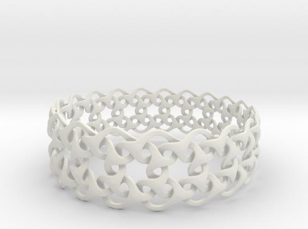 Bracelet V Large  in White Natural Versatile Plastic