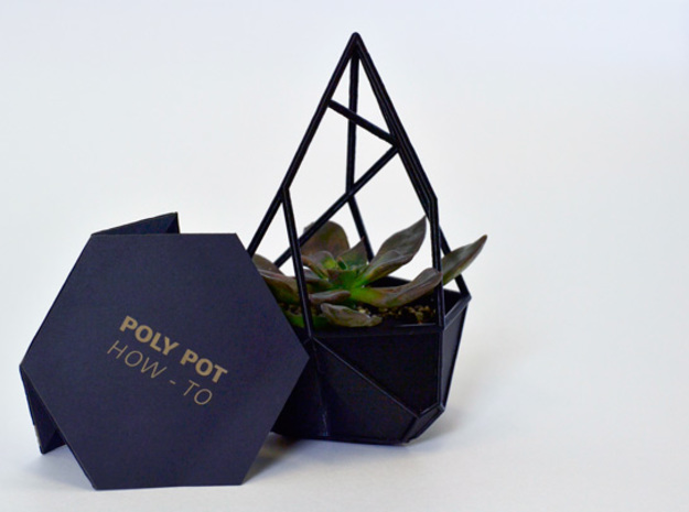 Poly Pot in Black Strong & Flexible