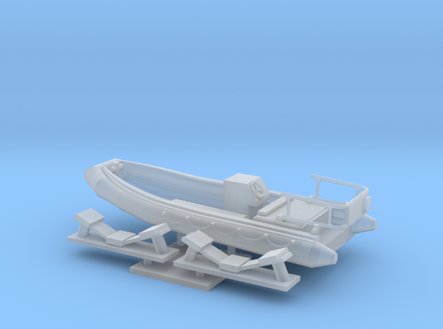 1/96 scale 16.73 feet Rescue RHIB (RIB) in Smooth Fine Detail Plastic