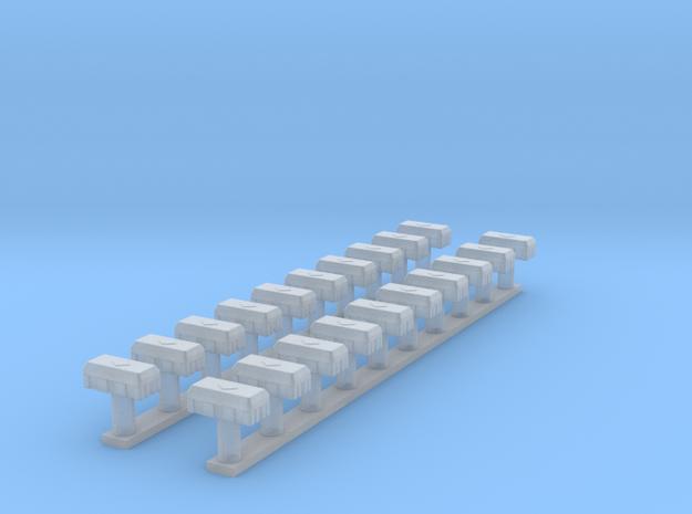 5950-ZS-87_Feuerlöscherbox 1-87 Jockel 20x in Smooth Fine Detail Plastic