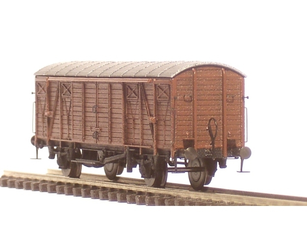 2251 1/148 German train-ferry van E006 3d printed Painted model with all additional parts
