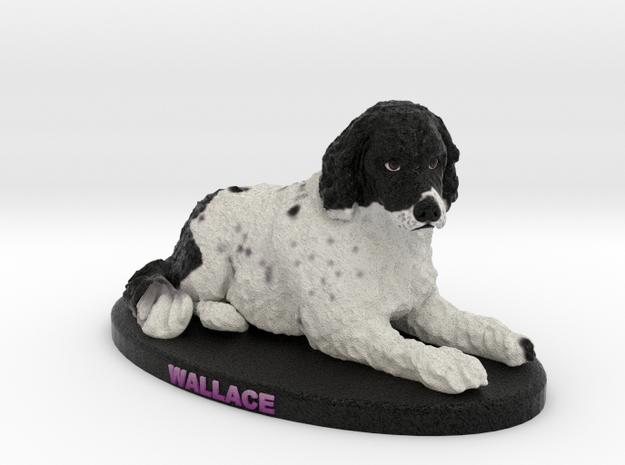 Custom Dog Figurine - Wallace in Full Color Sandstone