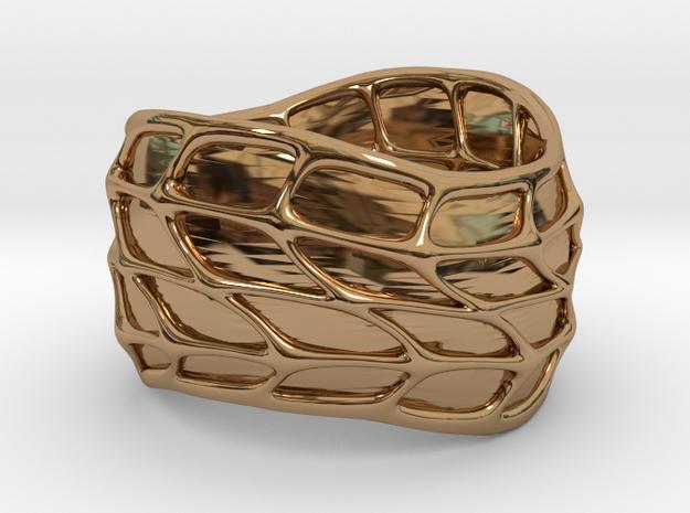 Panel Twist Ring (sz 5) 3d printed